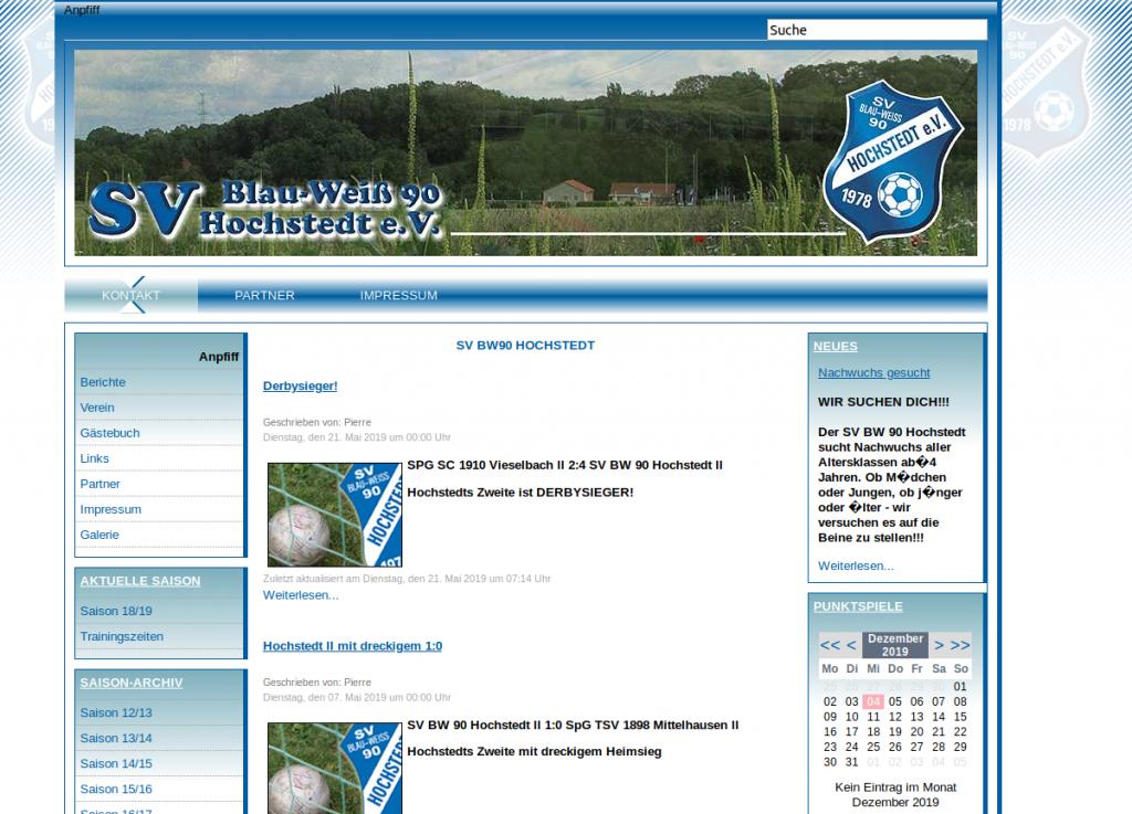 Ehemalige Webseite